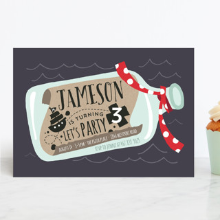 Message In A Bottle Children's Birthday Party Invitations