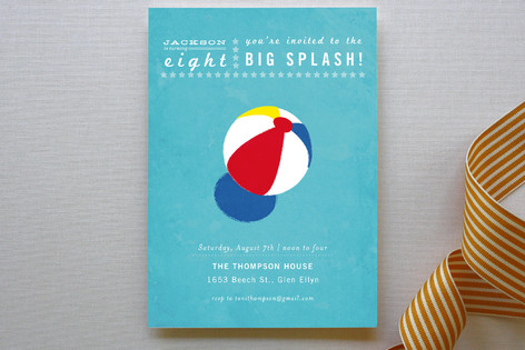 Big Splash Children's Birthday Party Invitations