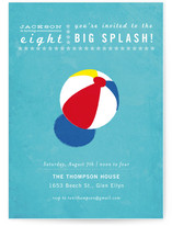 Big Splash! Children's Birthday Party Invitations