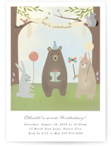 bears birthday party Children's Birthday Party Invitations