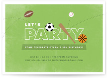 The All-Star Children&#039;s Birthday Party Invitations