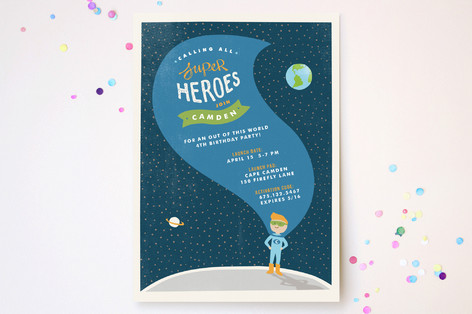 Up, Up and Away Children's Birthday Party Invitations