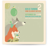 Woodland Celebration Children&#039;s Birthday Party Invitations