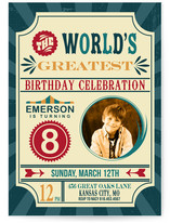 The World's Greatest Birthday Circus Party! Children's Birthday Party Invitations