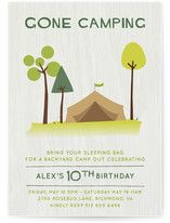 Gone Camping Children&#039;s Birthday Party Invitations