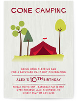 Gone Camping Children's Birthday Party Invitations