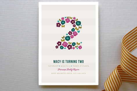 Two Pretty Children's Birthday Party Invitations