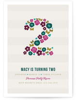 Two Pretty Children&#039;s Birthday Party Invitations