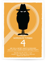 Secret Agent Children&#039;s Birthday Party Invitations