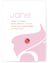 Leaf Munch and Lady Bug Children's Birthday Party Invitations