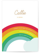 Over the Rainbow Children's Birthday Party Invitations