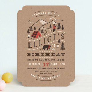 Lumber Bears Children's Birthday Party Invitations