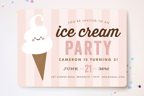 Ice Cream Parlor Children S Birthday Party Invitat Minted