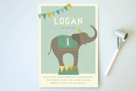 The Sweetest Circus On Earth! Children's Birthday Party Invitations