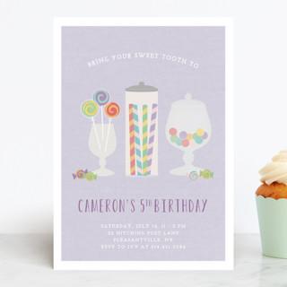 Candy Shoppe Children's Birthday Party Invitations