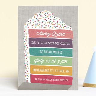 Layer Cake Children's Birthday Party Invitations