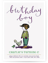 Farm Boy Children&#039;s Birthday Party Invitations