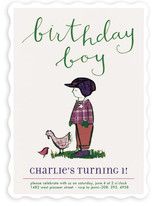 Farm Boy Children's Birthday Party Invitations