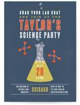 Science Children&#039;s Birthday Party Invitations