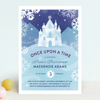 Ice Castle Children's Birthday Party Invitations