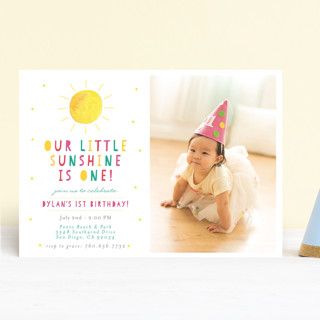 Little Sunshine Children's Birthday Party Invitations