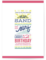 Sun, Sand + Surf Children&#039;s Birthday Party Invitations
