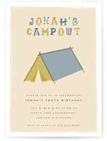 Cool Campout Children&#039;s Birthday Party Invitations
