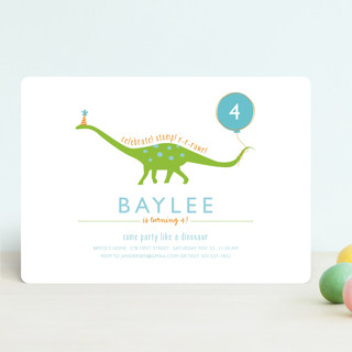 Party Like A Dinosaur Children's Birthday Party Invitations
