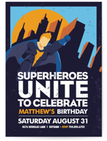 Super Heroes Children&#039;s Birthday Party Invitations