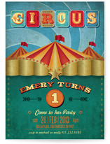 Circus Party Children's Birthday Party Invitations