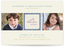 Numbered Block Children's Birthday Party Invitations