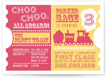 Choo Choo Train Children&#039;s Birthday Party Invitations