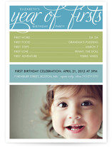 A Year of Firsts Children&#039;s Birthday Party Invitations