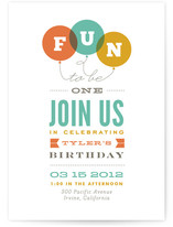 Endless Fun Children's Birthday Party Invitations