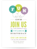 Endless Fun Children&#039;s Birthday Party Invitations