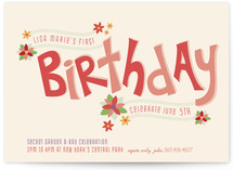 Secret Garden Children&#039;s Birthday Party Invitations