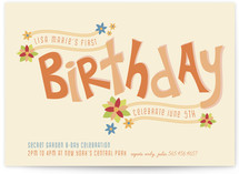 Secret Garden Children's Birthday Party Invitations