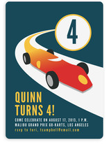 Vintage Racing Car Children&#039;s Birthday Party Invitations