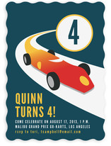 Vintage Racing Car Children's Birthday Party Invitations