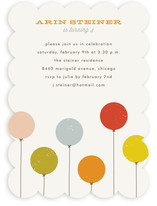 Colorful Balloons Children's Birthday Party Invitations