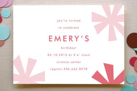 sparkle fête children s birthday party invitation minted