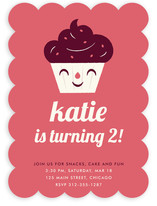 Sweet Cupcake Children&#039;s Birthday Party Invitations