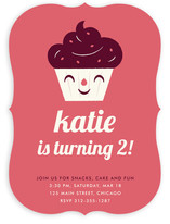 Sweet Cupcake Children's Birthday Party Invitations