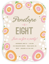 Sweet Clementine Children's Birthday Party Invitations