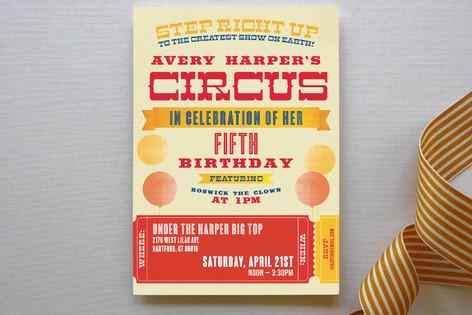 Greatest Circus Children's Birthday Party Invitations