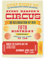 Greatest Circus Children's Birthday Party Invitations