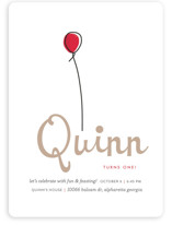 Up Up and Away Balloon Children&#039;s Birthday Party Invitations