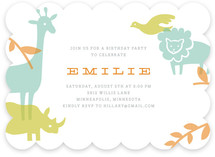 Zoo Menagerie Children&#039;s Birthday Party Invitations