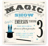 Magic Show Children's Birthday Party Invitations