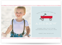Little Red Wagon Children&#039;s Birthday Party Invitations